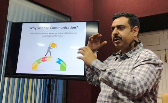 Workshop in Goa for training on science writing