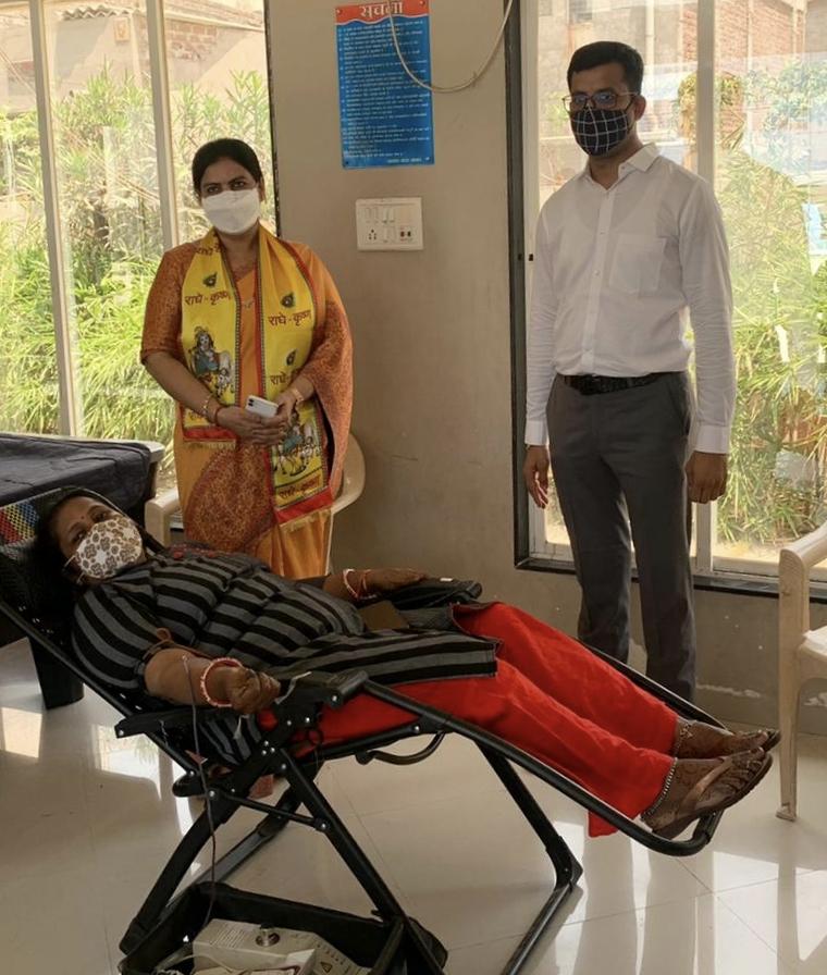 Blood donation camp organized on Surat mayor's birthday